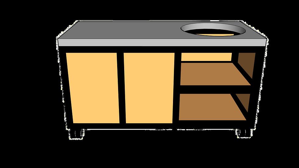 Buitenkeuken voor kamado rechts 160cm
