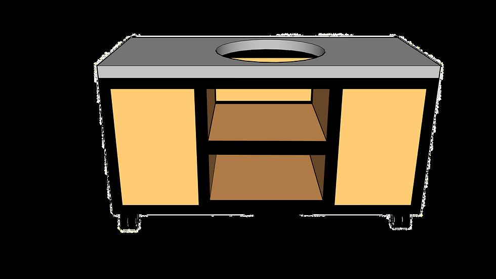Buitenkeuken voor kamado midden 160cm
