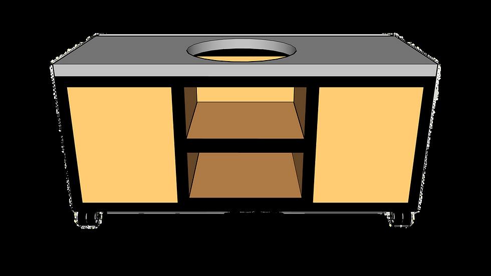 Buitenkeuken voor kamado midden 180cm