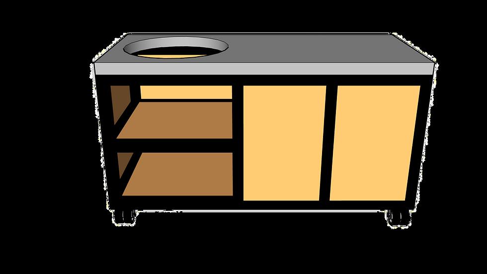 Buitenkeuken voor kamado links 160cm