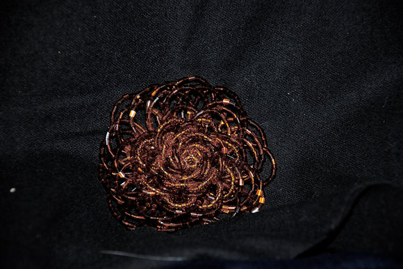 Beaded Flower Pin - Mini
