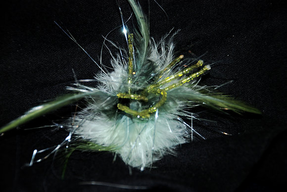 Feather & Bead Explosion Pin