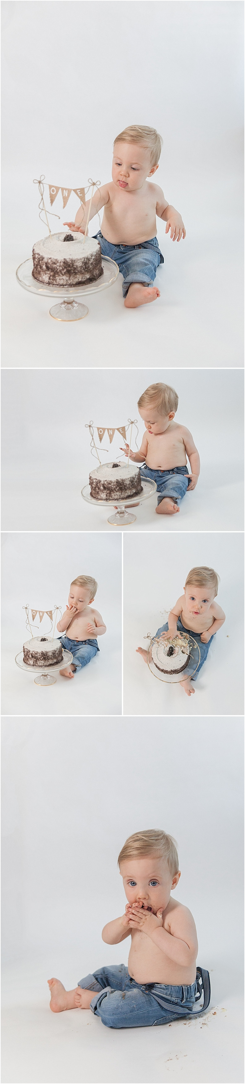 Sarasota Baby Photographer One year old baby milestone cake smash family session