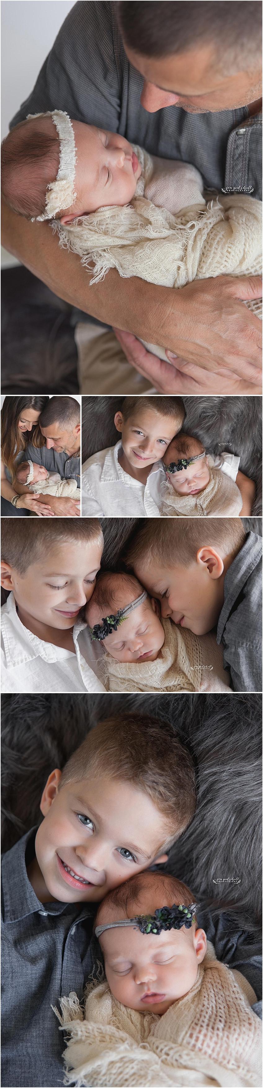 Newborn baby and family session by Sarasota Newborn Photographer Jen Godshall