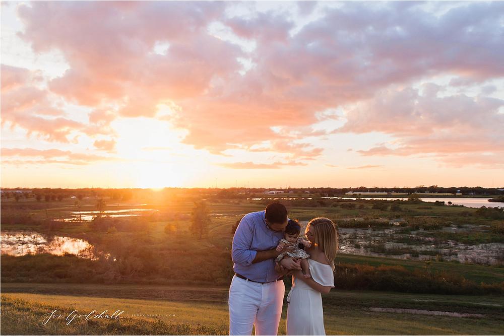 Sarasota Family Photographer Sunset session with baby motherhood