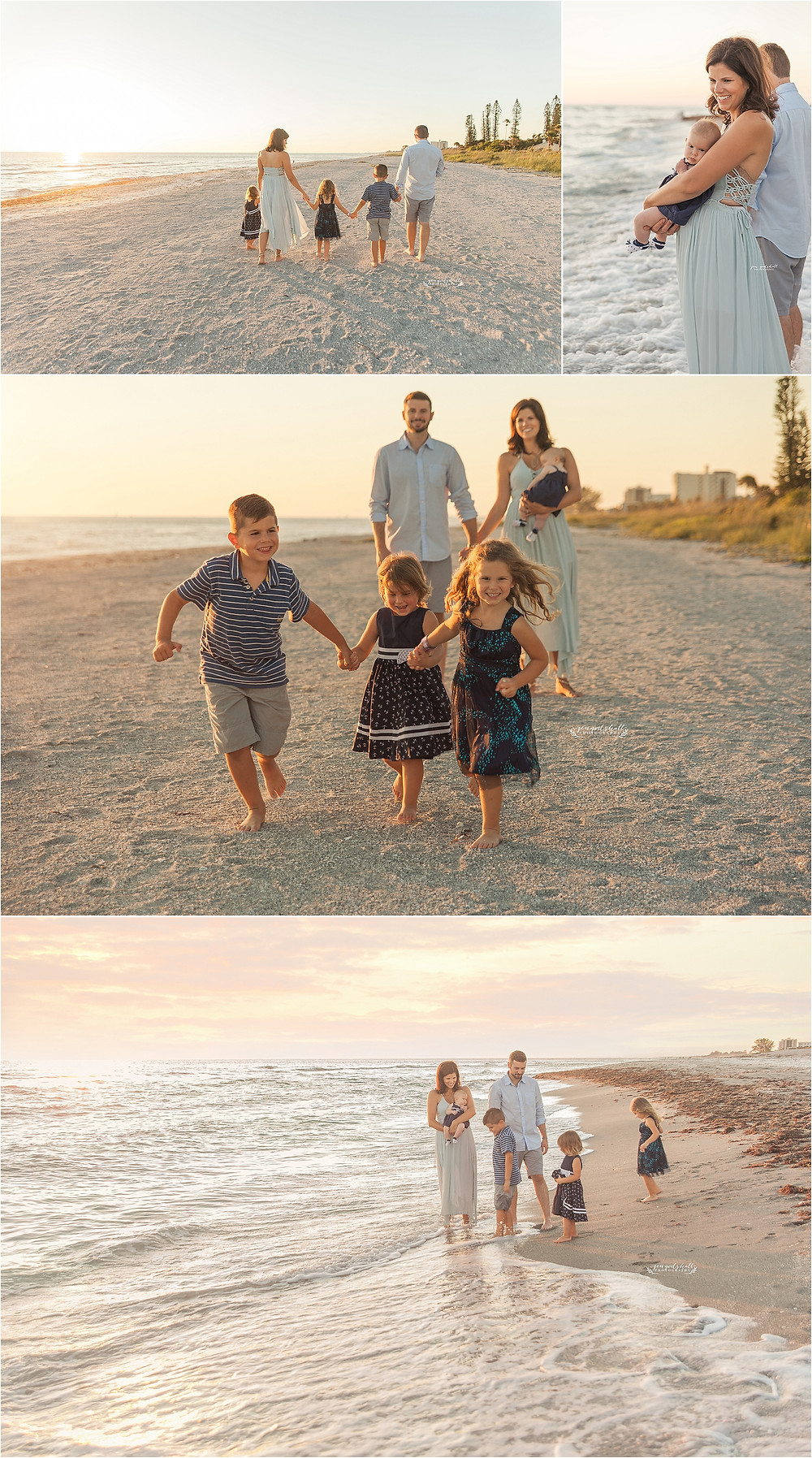 Seminaro Family Portraits - Venice Family Photographer - Sarasota - Beach - Jen Godshall Photography