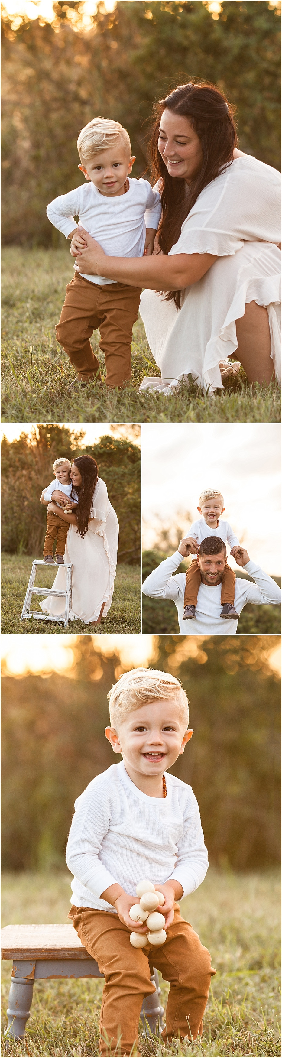 Sarasota Family Photographer Sunset session in the field