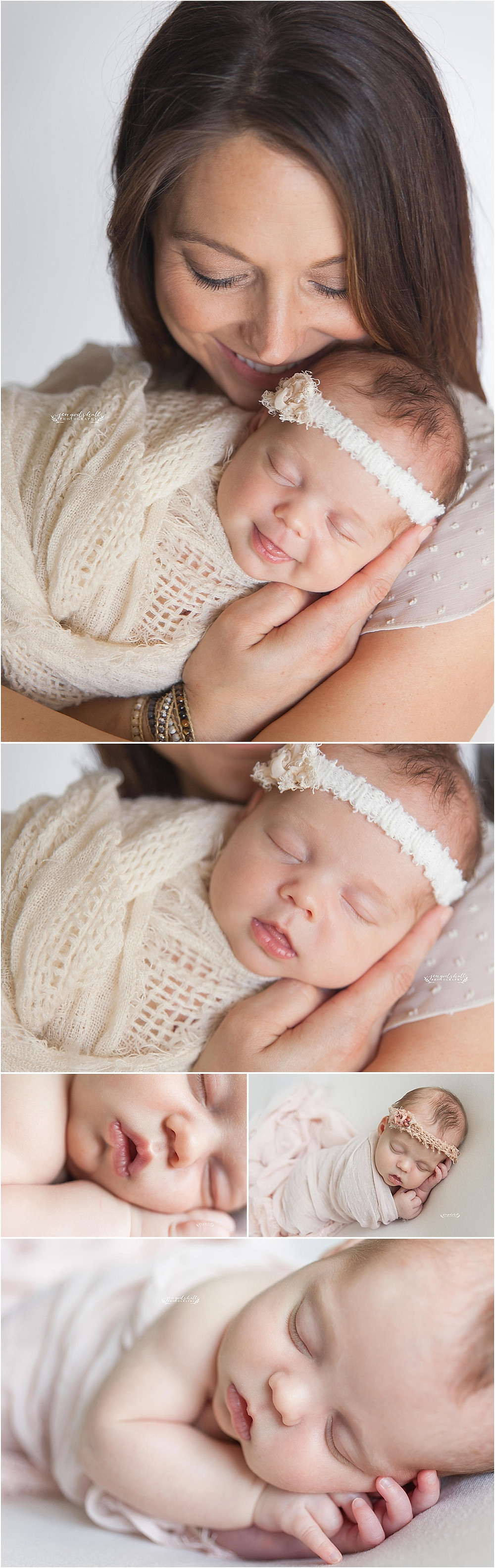 Newborn baby with mother by Sarasota Newborn Photographer Jen Godshall