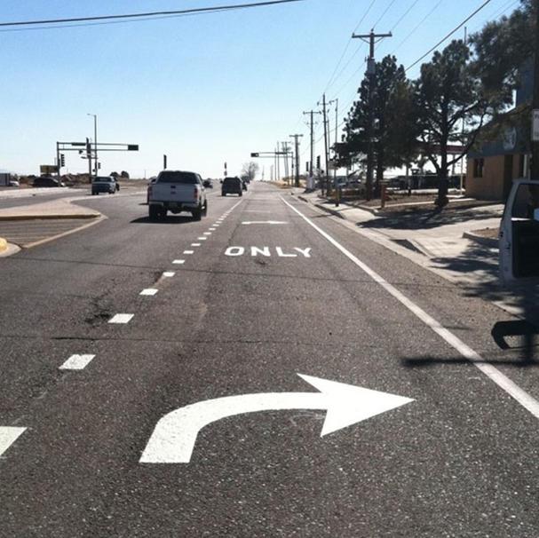 Dedicated Right Turn Lane