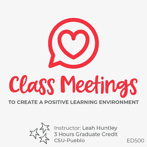 Class Meetings to Create a Positive Learning Environment