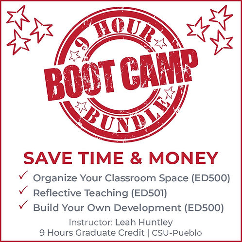 BOOT CAMP BUNDLE 9 Credit HOURS