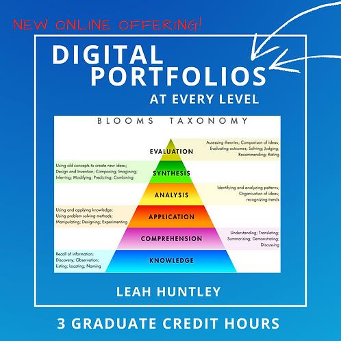 Digital Portfolios using Bloom's Taxonomy
