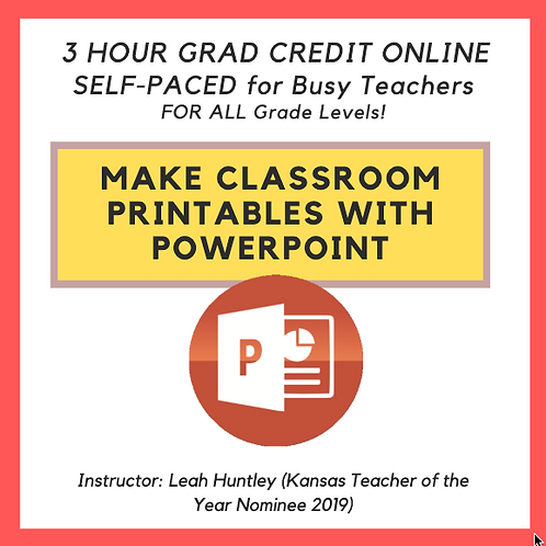 Make Classroom Printable's with POWERPOINT