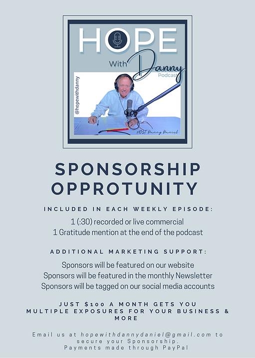 Sponsorship Opportunities flyer for webs