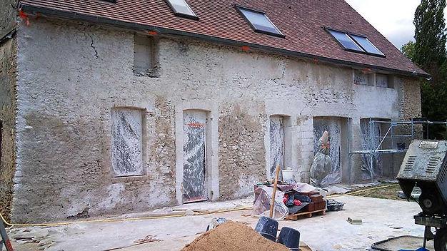 rénovation enduit façade à la chaux toulouse