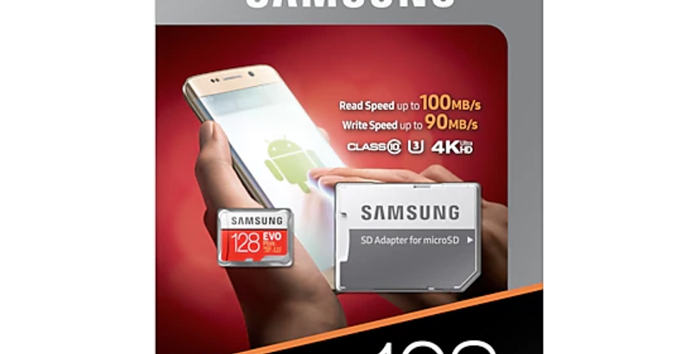 Samsung 128gb Micro SD Card Evo Plus + Adapter