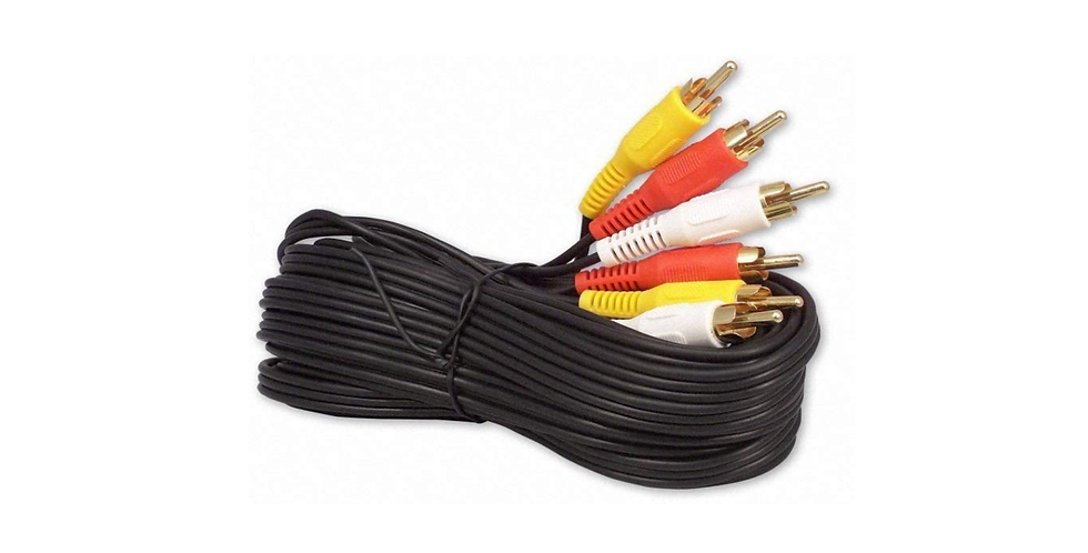 3RCA Male To 3RCA Male CCS Gold Plated 4.0MM