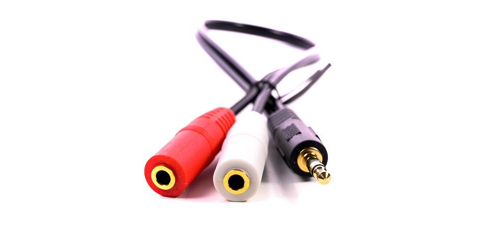 Splitter Headphones jack 3.5 mm Stereo Audio Y-Splitter 2 Female 1 Male Cable