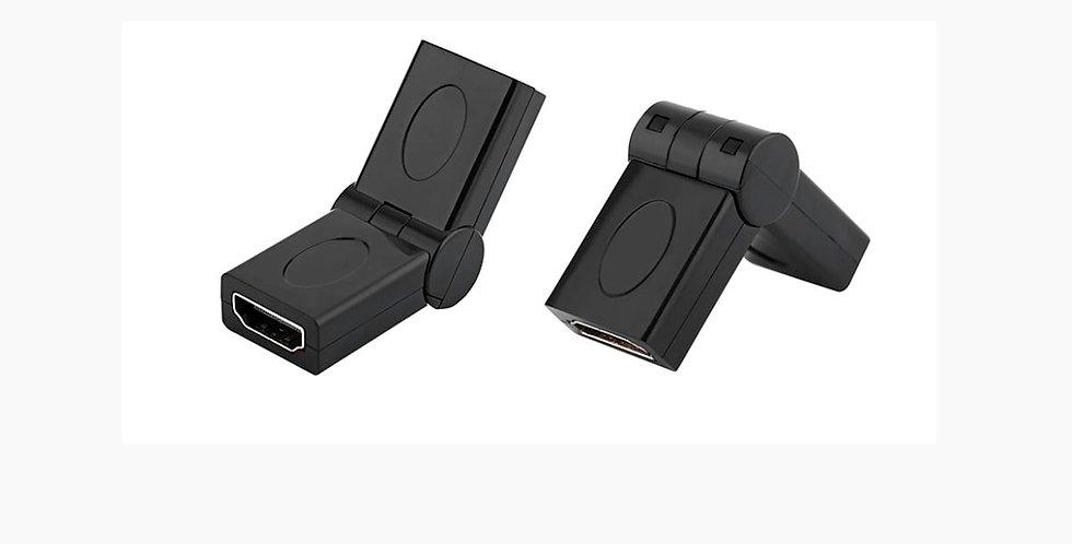 Rotatable 180 Degree HDMI Female to Female Converter