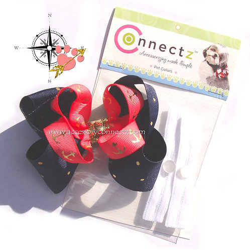 Pet Connectorz Anchors Away Bow Kit