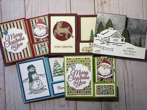 Be Jolly Fancy Fold Christmas card