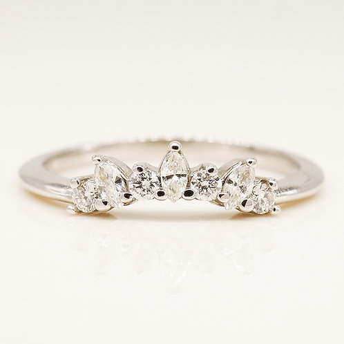 Marquise & Round Contour Band