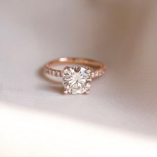 diamond rose gold engagement ring