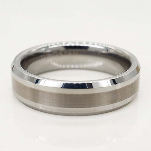 Beveled Tungsten Band