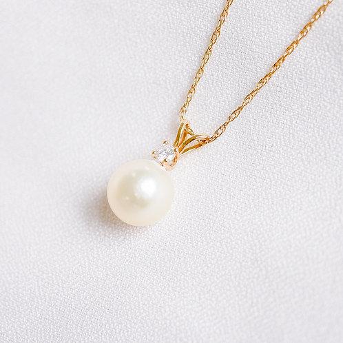 Pearl & Diamond Necklace