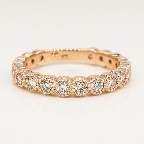 Milgrain Scalloped Diamond Band