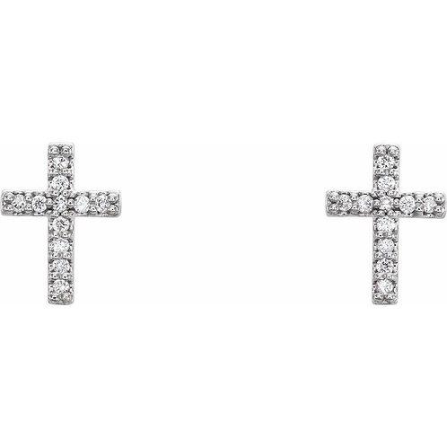 Diamond Cross Studs