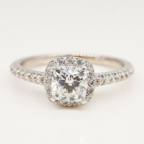 Cushion Shape Diamond Halo Ring