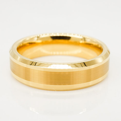 Polished Edge Tungsten Band