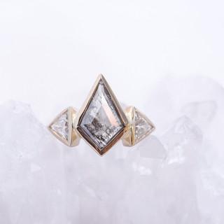 Kite shaped Salt & Pepper diamond