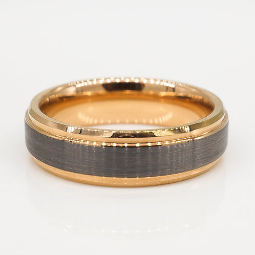 Gray and Rose Gold Band