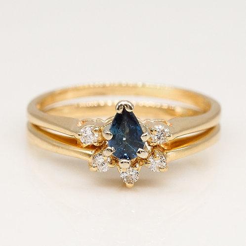 Vintage Pear Shape Sapphire Set