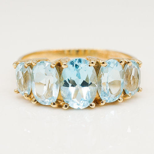 Oval Topaz Gemstone Ring