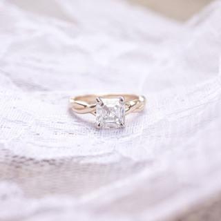 asscher diamond engagement ring