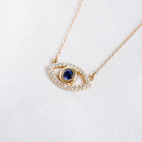 Gemstone and Diamond Evil Eye