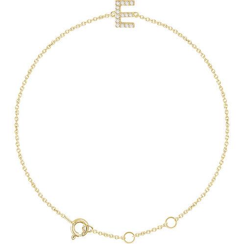 Diamond Letter Bracelet