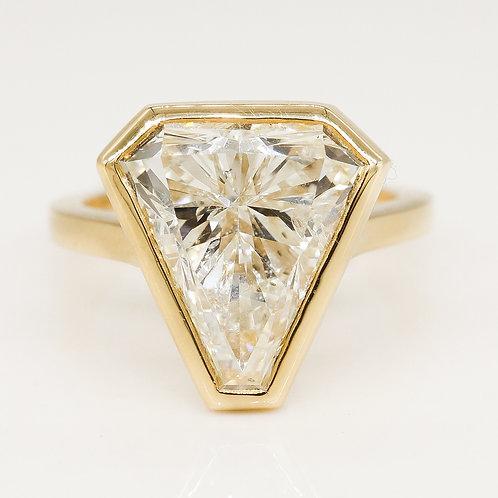Bezel Set Shield Diamond Ring