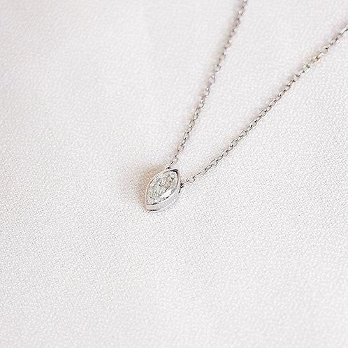 Marquise Floating Diamond Necklace
