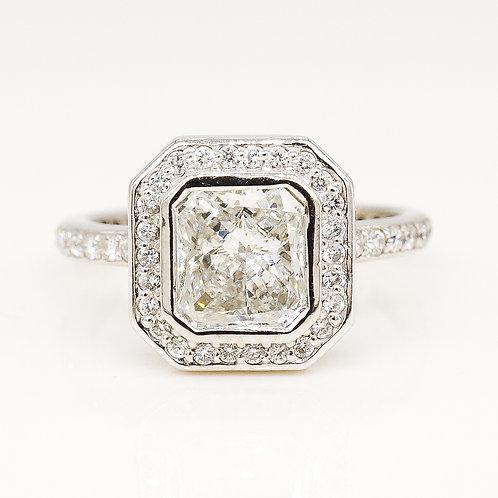 Radiant Shape Octagon Diamond Ring