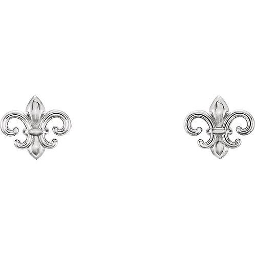 Mini Fleur De Lis Earrings