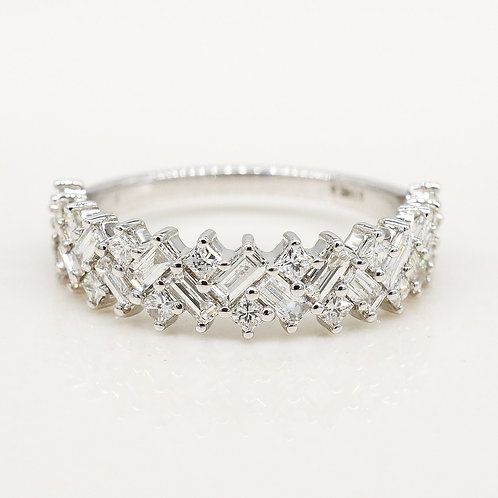 Princess & Baguette Diamond Band
