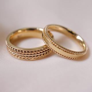 custom gold rope wedding bands