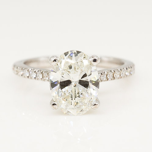 Cathedral Oval Shape Diamond Ring