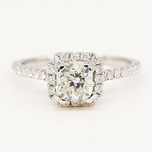 Radiant Diamond Halo Ring