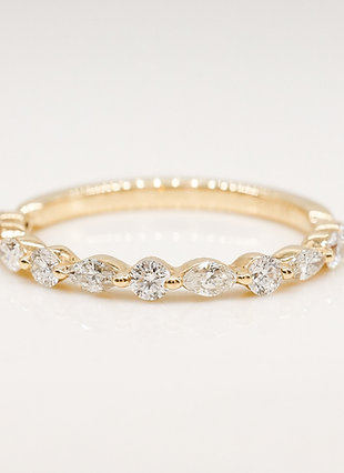 Petite Marquise and Round Diamond Band
