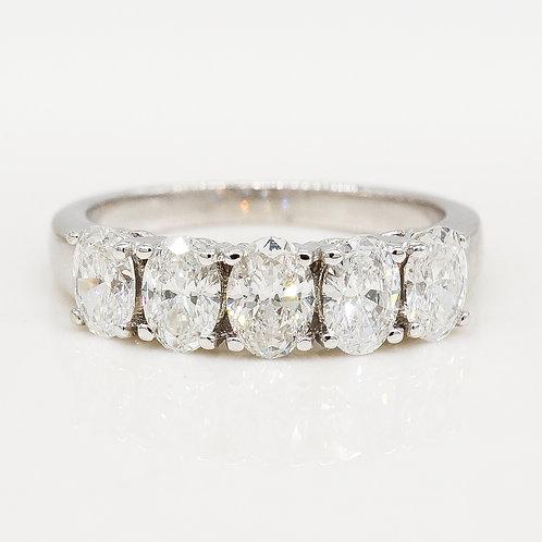 5 Oval Diamond Band